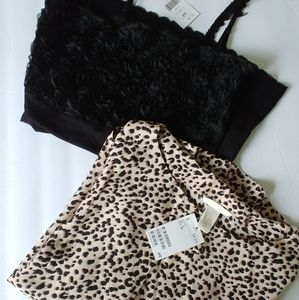 New with tags lot H & M blouse animal print